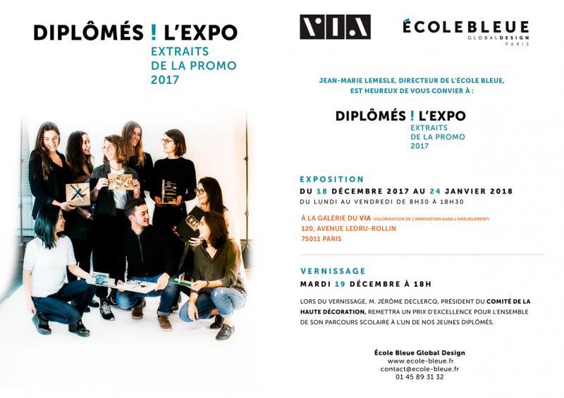 ECOLE BLEUE - « DIPLÔMÉS ! L\'EXPO »… EXTRAITS DE LA PROMO 2017 À ...
